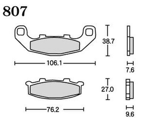 RK UA7 807 ブレーキパッド    *