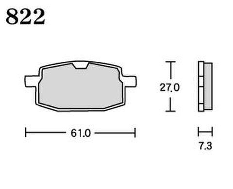 RK UA7 822 ブレーキパッド