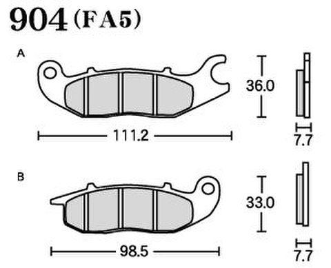 RK FA5 904 ブレーキパッド