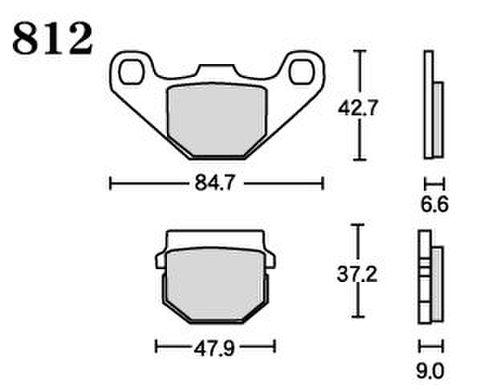 RK UA7 812 ブレーキパッド