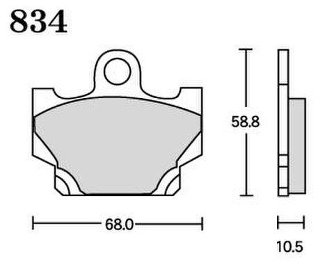 RK FA5 834 ブレーキパッド