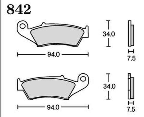 RK UA7 842 ブレーキパッド