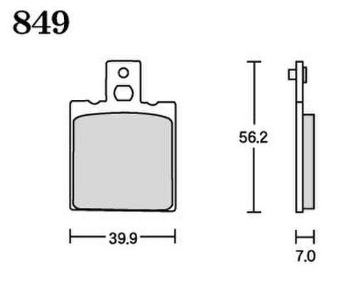 RK FA5 849 ブレーキパッド