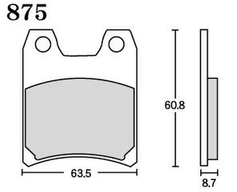 RK MAX 875 ブレーキパッド