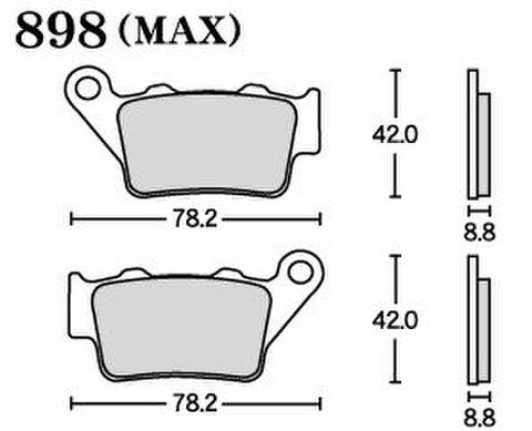 RK MAX 898 ブレーキパッド