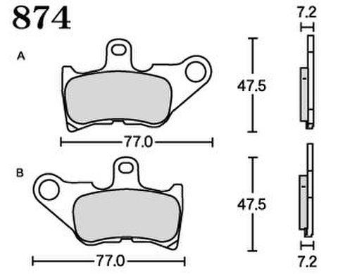 RK FA5 874 ブレーキパッド