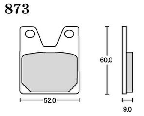 RK UA7 873 ブレーキパッド