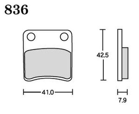 RK UA7 836 ブレーキパッド