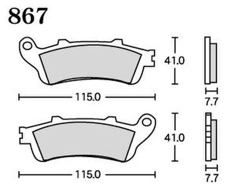 RK UA7 867 ブレーキパッド