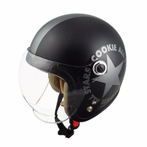 TNK CA-6 ヘルメット ハーフマッドブラック/ガンメタ KIDS(54-56cm)