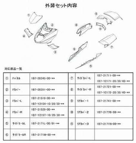 NTB TBY-29K/W 外装セット