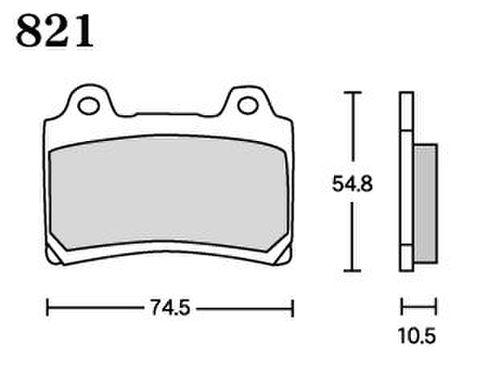 RK UA7 821 ブレーキパッド    *