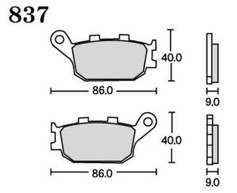 RK FA5 837 ブレーキパッド