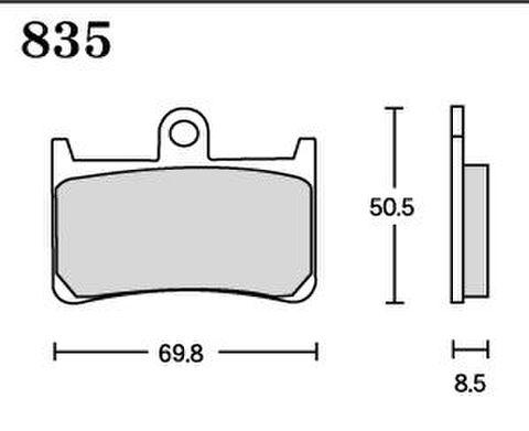 RK MAX 835 ブレーキパッド