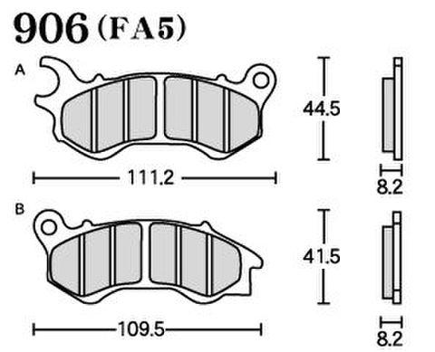 RK FA5 906 ブレーキパッド
