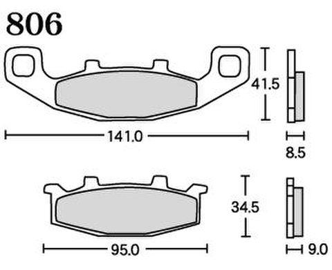 RK UA7 806 ブレーキパッド