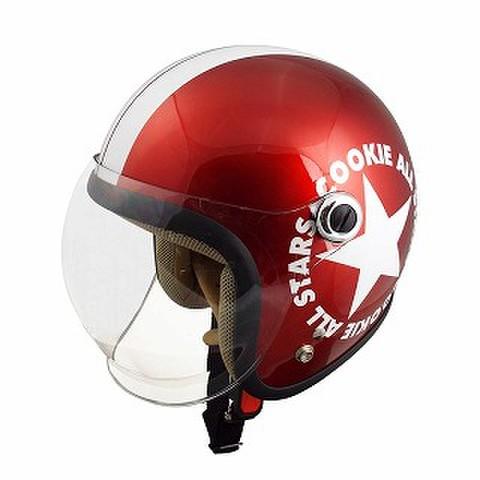 TNK CA-6 ヘルメット キャンディレッド/ホワイト KIDS(54-56cm)