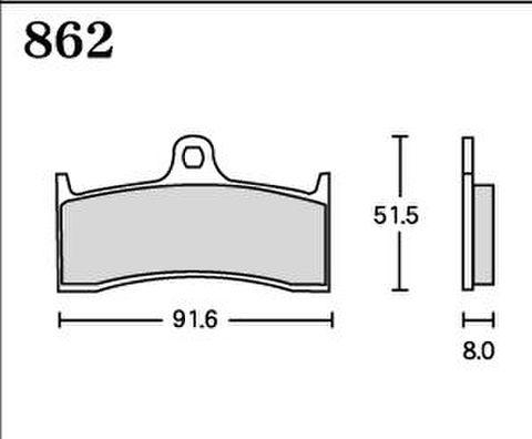 RK UA7 862 ブレーキパッド