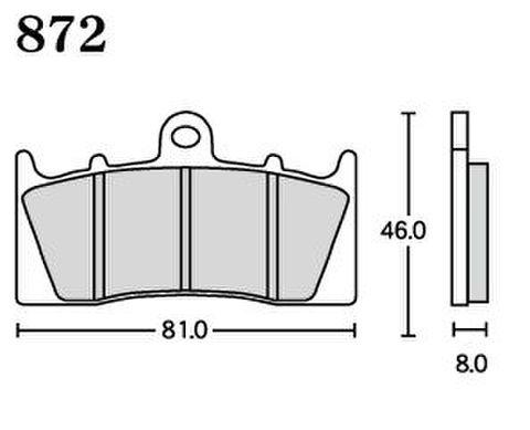 RK UA7 872 ブレーキパッド