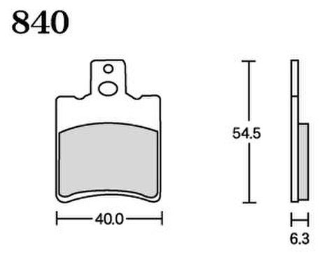RK UA7 840 ブレーキパッド