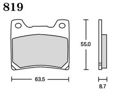 RK MAX 819 ブレーキパッド