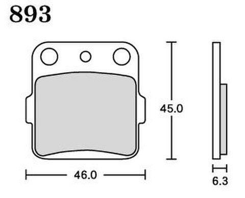 RK MAX 893 ブレーキパッド