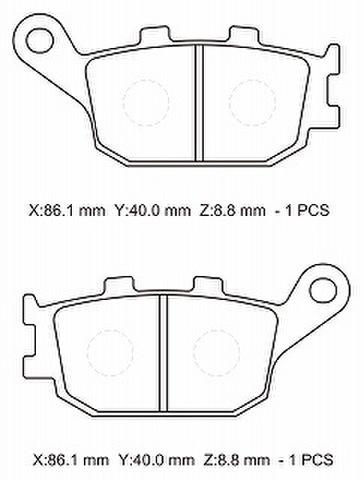 NTB A61-022KN ブレーキパッド