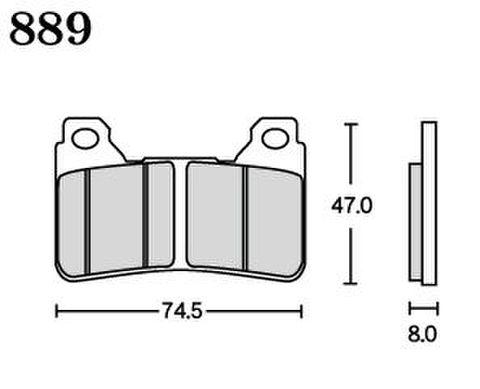 RK MAX 889 ブレーキパッド