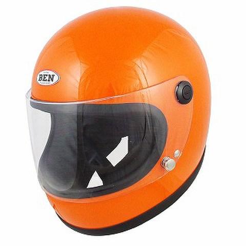 TNK B60 NEO ヴィンテージフルフェイス オレンジ  FREE(58-59㎝)