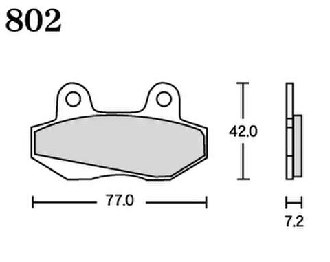 RK UA7 802 ブレーキパッド