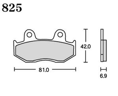 RK UA7 825 ブレーキパッド