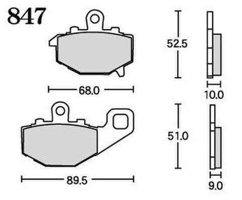 RK UA7 847 ブレーキパッド