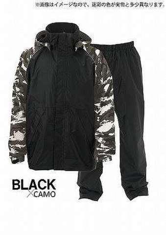 ヒラノ産業 防水防寒スーツNo.06142 イージーアクト2 カモフラ/ブラック L