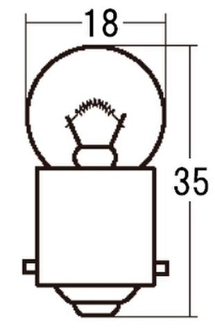 スタンレー A4125 12V10W G18 10ケ (1箱10ケ入)