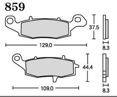 RK UA7 859 ブレーキパッド