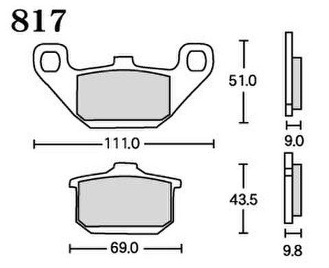 RK UA7 817 ブレーキパッド    *