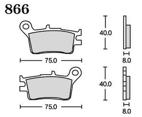 RK FA5 866 ブレーキパッド