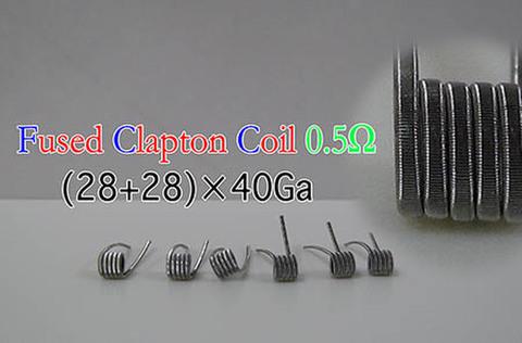 NiCr (28+28)*40Ga Fused Clapton Coil 6個セット use Good Wire