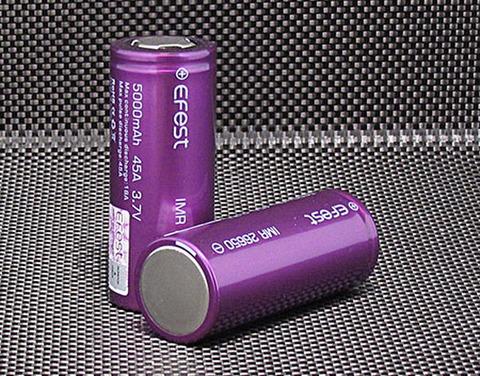 efest Purple IMR 26650 5000mAh High Drain 45A Battery Flat top