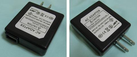 AC-USBアダプタ 5V 1000mA