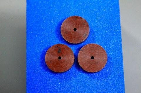 15φ   #500   リューター、ルーター、研磨用レジン焼結ダイヤモンド砥石(湿式用) #500 3個 外形15mm 厚み3mm 穴経1.7mm