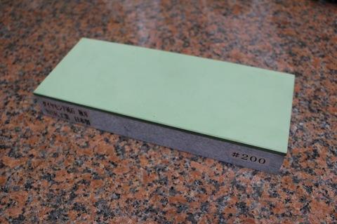 受注生産品 3寸3分幅ダイヤモンド角砥石 #200 極刃 幅広サイズ中 W100ミリ×H33.5ミリ(ダイヤ層3.5mm)×L245ミリ