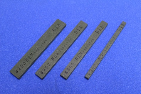ダイヤモンドスティック砥石 焼結レジンボンド   #200     幅12mm×厚み5mm×長さ100mm