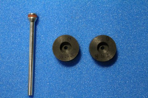 15φ  6mm幅 #60#150  リューター、ルーター、研磨用レジン焼結ダイヤモンド砥石(湿式用) 2個セット 穴径1.8ミリ マンドレル1本付き(3mm軸)