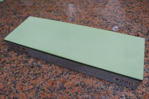 受注生産品 3寸3分幅ダイヤモンド角砥石 #200 極刃 幅広サイズ大 W100ミリ×H33.5ミリ(ダイヤ層3.5mm)×L290ミリ