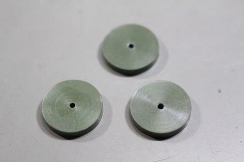 18φ  #3000  リューター、ルーター、研磨用レジン焼結ダイヤモンド砥石(湿式用) 外形18mmタイプ #3000. 3個 外形18mm 厚み3mm 穴経1.7mm