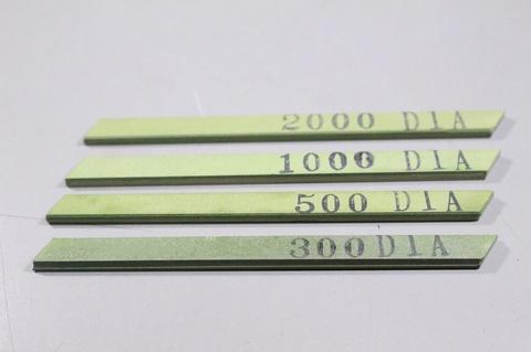 焼結ダイヤモンドスティック砥石   ダイヤ★キラリンスティックエコノミー #300、#500、#1000、#2000 計4本  3×6×93