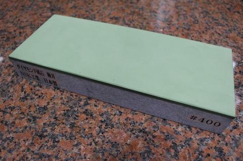 受注生産品 3寸3分幅ダイヤモンド角砥石 #400 極刃 幅広サイズ中 W100ミリ×H33.5ミリ(ダイヤ層3.5mm)×L245ミリ