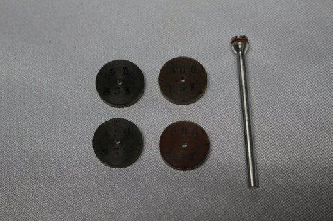 15パイ#60-#500焼結レジンダイヤモンドインターナル砥石 4個セット マンドレル1本つき(3ミリ軸)