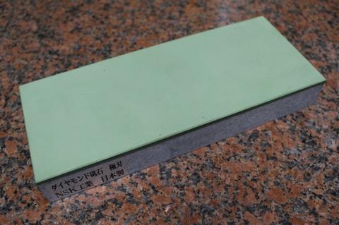 受注生産品 ダ3寸3分幅イヤモンド角砥石 #1500 極刃 幅広サイズ中 W100ミリ×H33.5ミリ(ダイヤ層3.5mm)×L245ミリ